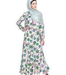 Multicolor Printed Crepe Stitched Islamic Abaya