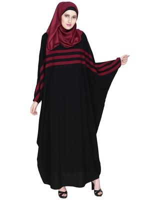 Multicolor Plain Nida Stitched Islamic Abaya