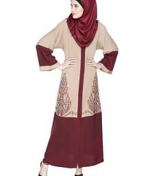 Multicolor Embroidered Satin Nida Stitched Islamic Abaya