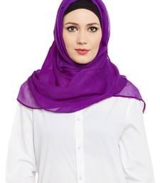 Purple Chiffon Islamic Hijab Head Scarf