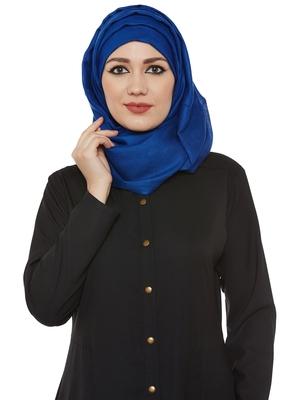 Blue Viscose Islamic Hijab Head Scarf