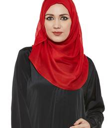 Red Viscose Islamic Hijab Head Scarf