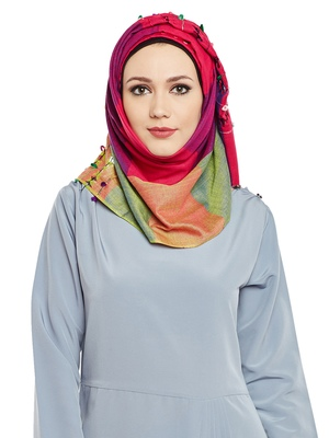 Multicolor Viscose Islamic Hijab Head Scarf