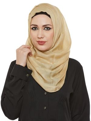Gold Viscose Islamic Hijab Head Scarf