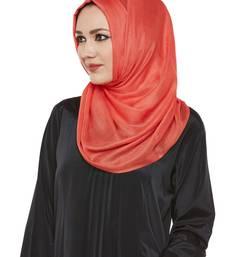 Peach Viscose Islamic Hijab Head Scarf