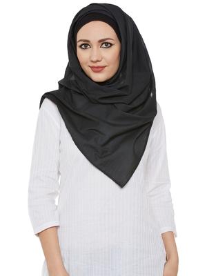 Black Cotton Islamic Hijab Head Scarf