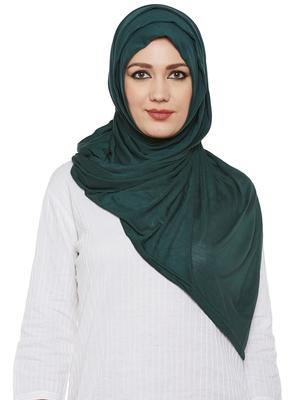 Dark Green Viscose Islamic Hijab Head Scarf