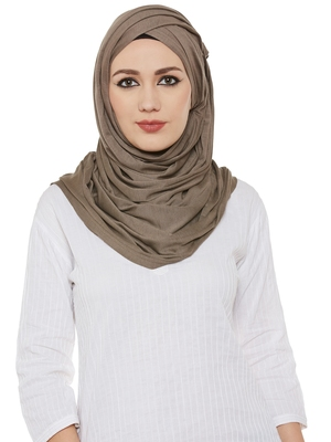 Brown Viscose Islamic Hijab Head Scarf
