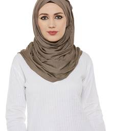 Brown Viscose Islamic Hijab Head Scarf