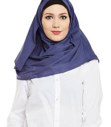 Navy Blue Cotton Islamic Hijab Head Scarf
