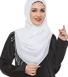 White Viscose Islamic Hijab Head Scarf