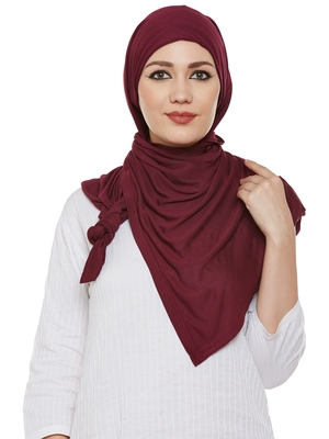 Maroon Viscose Islamic Hijab Head Scarf