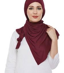 Maroon Viscose Islamic Hijab Head Scarf
