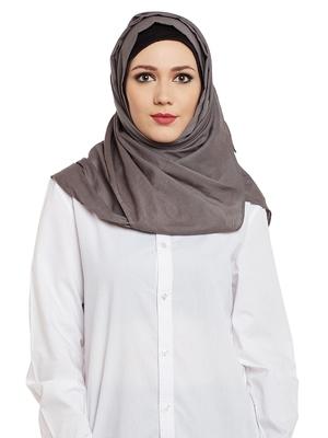 Grey Cotton Islamic Hijab Head Scarf