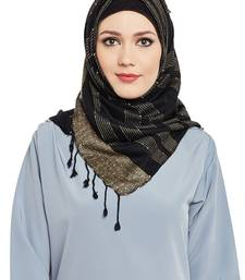 Black Viscose Islamic Hijab Head Scarf