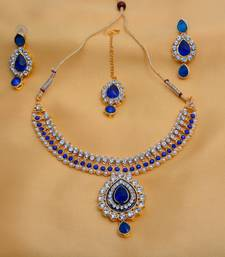 Buy Blue diamond necklace-sets necklace-set online