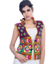 Black Kutchi Embroidered Dupion Silk Waist Length Jacket Women Ethnic Wear