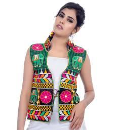 Black Kutchi Embroidered Dupion Silk Waist Length Jacket Women Ethnic Wear