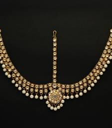 Buy White Color Imitation Pearl and Kundan Work Matha Patti Other online