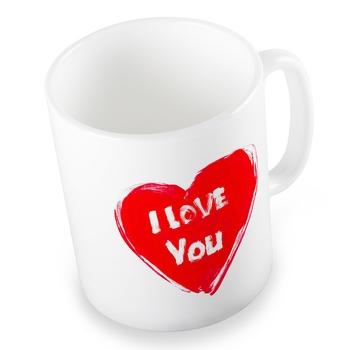 Exquisite Cute I Love You Heart Printed Coffee Mug