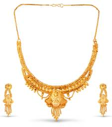 Buy Gold necklace set south-indian-jewellery online
