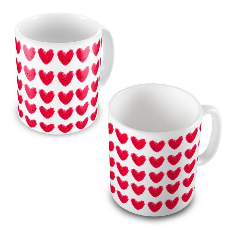 Buy Beautiful Cute Hearts Print Design Coffee Mug Pair Online