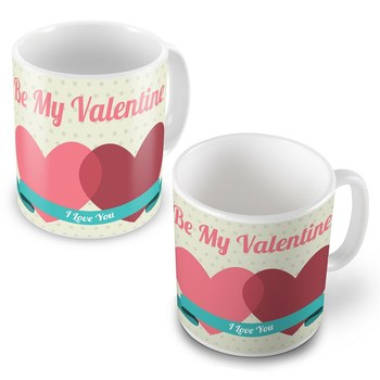 Be My Valentine Lovely Designer Coffee Mugs Pair
