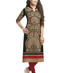 Black printed cotton kurtis