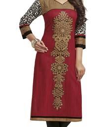 Red printed cotton kurtis