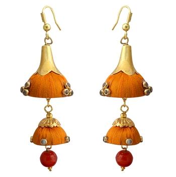 Orange Pearl Earrings