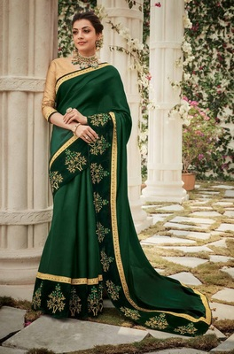 Green Art Silk Saree With Blouse