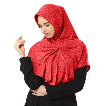 Maroon Poly Cotton Stitched Hijab