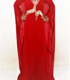 Red Georgette Embroidered Farasha