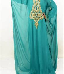 Sea Green Georgette Embroidered Farasha