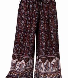 Buy Black Jaipuri Printed Cotton Palazzo palazzo-pant online