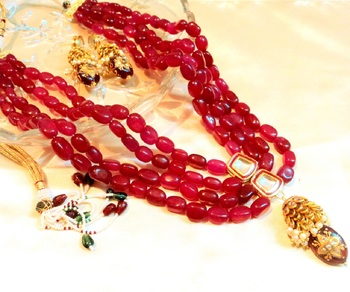 Wedding Red Women Necklace Sets