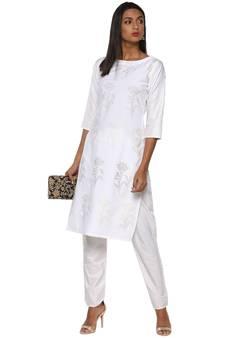 05f0ee8352e White crepe crepe stitched kurti