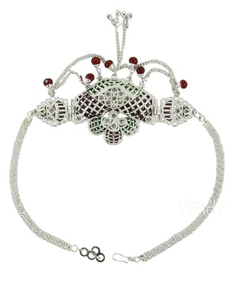 Handmade very classy delicate styled silver plated beautiful armlet and bajuband