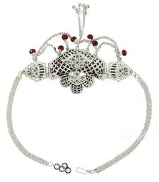 Buy Handmade very classy delicate styled silver plated beautiful armlet  and  bajuband bajuband online