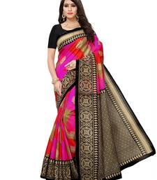 Buy Multicolor printed bhagalpuri silk saree with blouse great-indian-saree-festival online