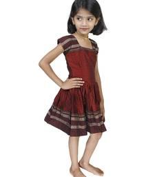 Buy Traditional Wear Maroon Frock For Girls And Kids kids-frock online