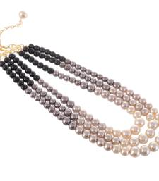 Multicolour Pretty Synthetic Pearl Party Wear Necklace
