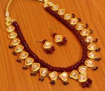 Ruby Kundan Meenakari Royal Necklace Set