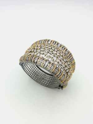 White CZ AD American Diamond Kada Jewellery for Women