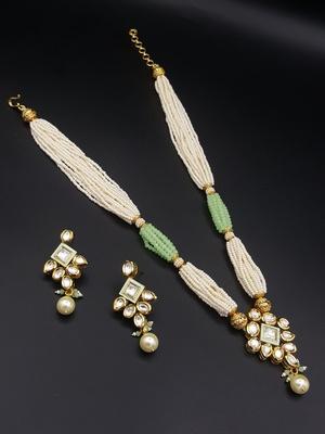 783251c49b431 Mehndi green vilandi kundan necklace set jewellery for women