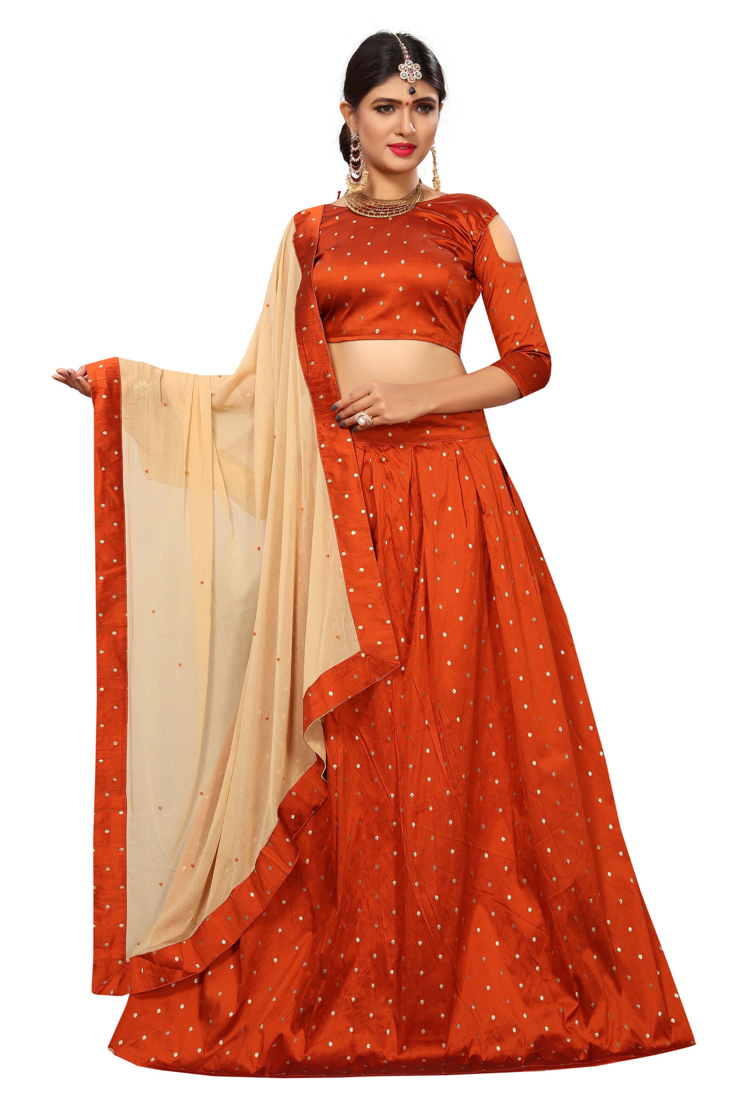 d2db6bad0bb9e9 Orange lehengas online buy orange color lehenga designs discounted prices  jpg 2400x3600 Orange long top lehenga