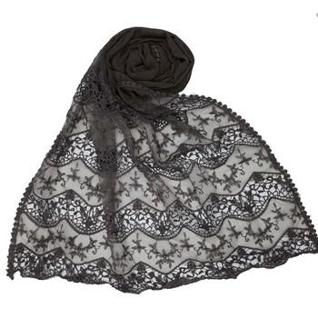 Grey cotton islamic hijab