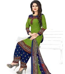 Buy Green fancy crepe salwar with dupatta punjabi-suit online