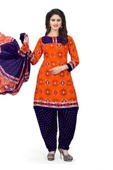 03c307b358 Orange Suits Online | Buy Orange Color Salwar Kameez from Best ...