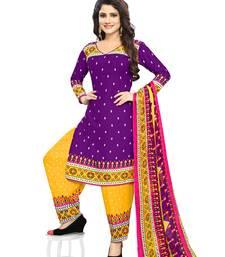 Buy Purple fancy crepe salwar with dupatta punjabi-suit online